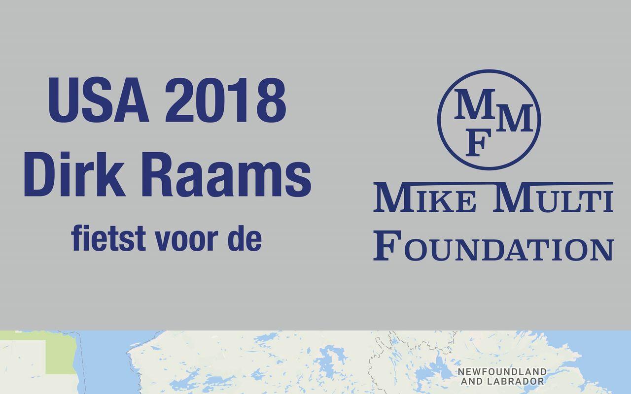 Dirk Raams fiets banner actie is vol