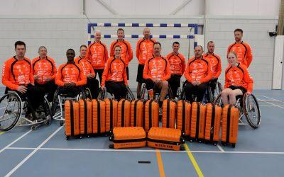 In zee met het Nederlands rolstoelhandbal team