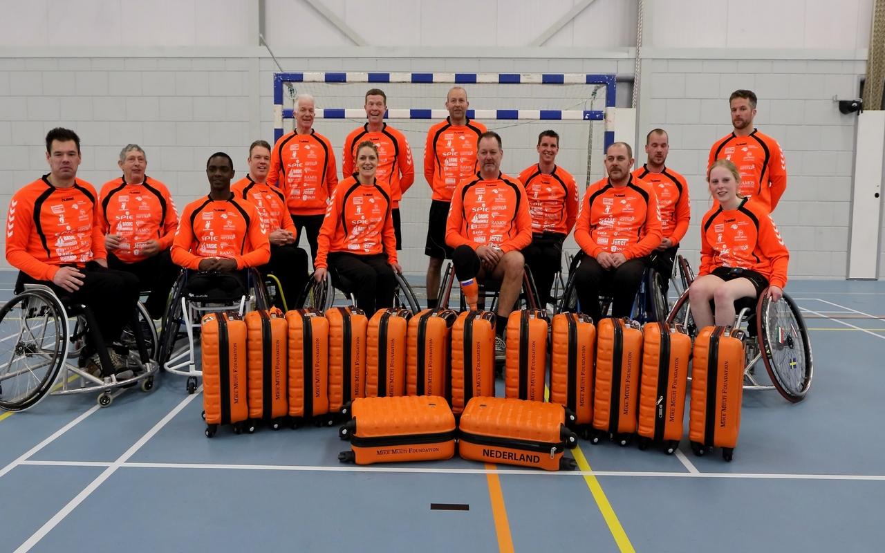Nederlands rolstoel handbal team