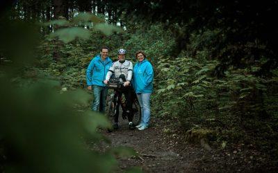 Dirk Raams fietst voor de Mike Multi Foundation
